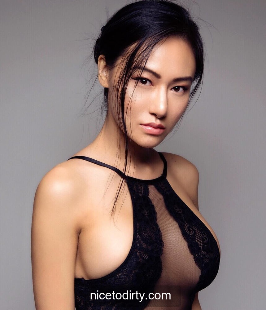 Naked Cute Asian Instagram Model Anna Xiao In Sexy Black Dress