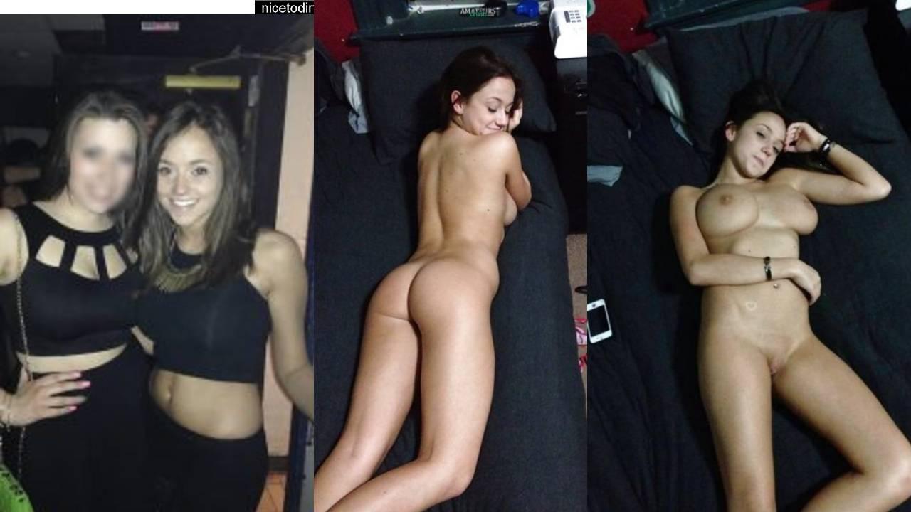 Naked Amateur Girl On Grey Sofa