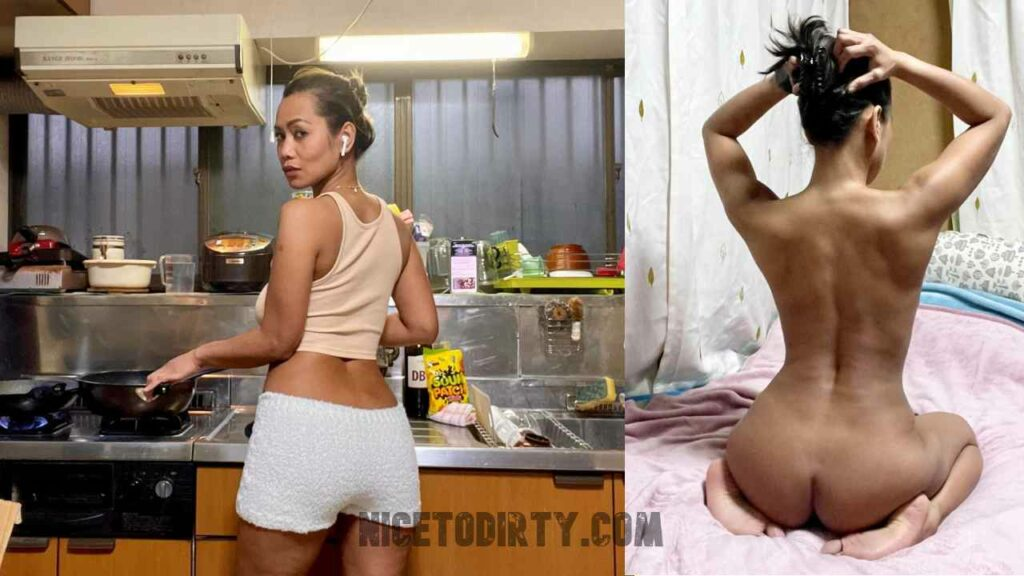 Dressed And Undressed Asian Wife