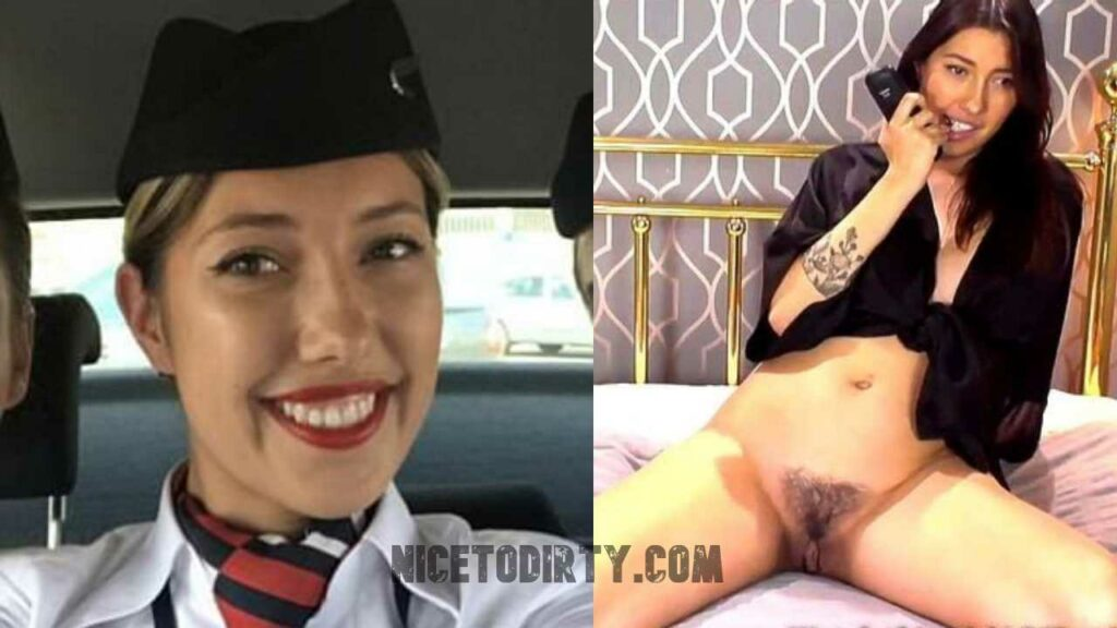 Dressed And Undressed Former Flight Attendant