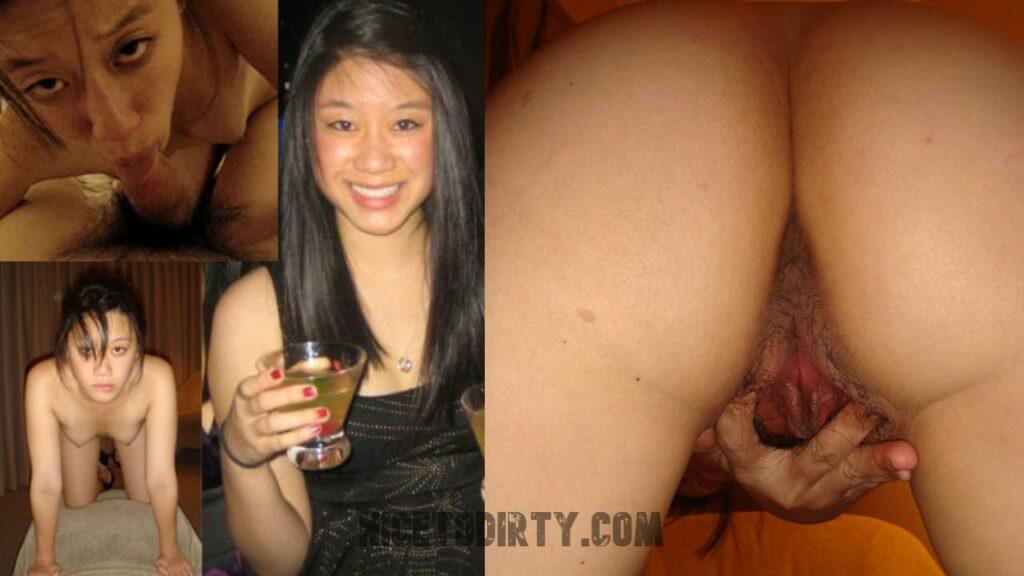 Dressed And Undressed Asian Slut